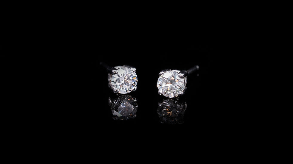 18ct White Gold Diamond Stud Earrings 0.41ct