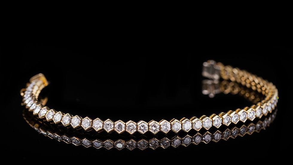5ct Diamond Tennis Bracelet 18ct Yellow Gold