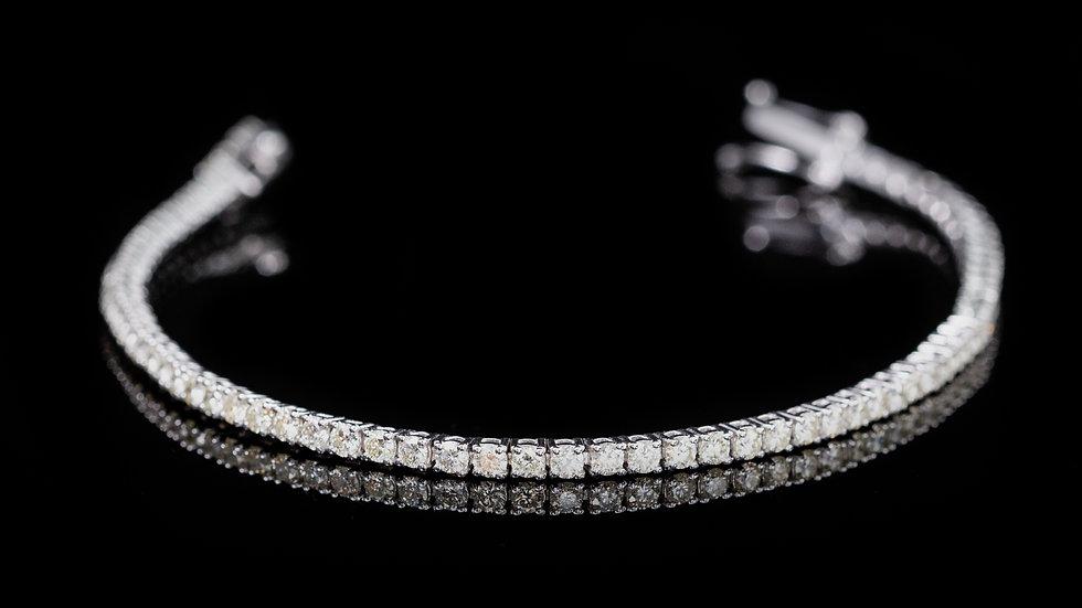18ct White Gold 2.5cttw Diamond Tennis Bracelet