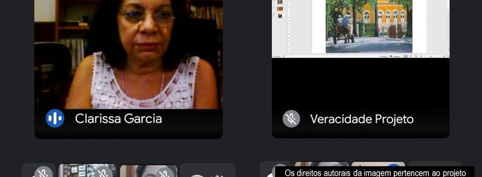 Roda de Conversa com a artista recifense Clarissa Garcia 19/04/2021