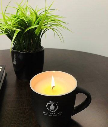 BeCreative Soy Candle Mug | White Tea + Ginger