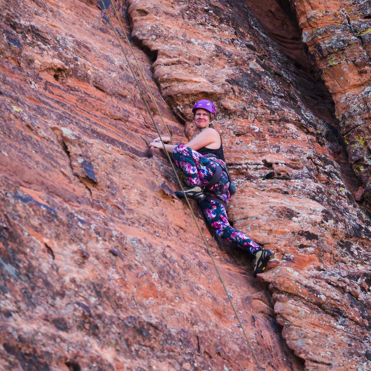 Snow Canyon Climbing Adventure
