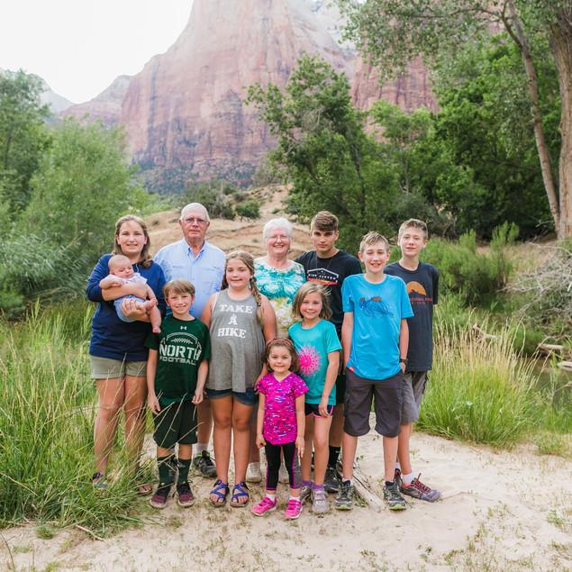 Family Reunion Fun in Zion