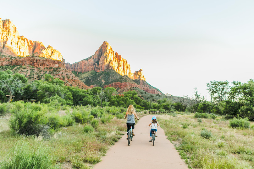 Biking the Pa'Rus Trail in Zion National Park