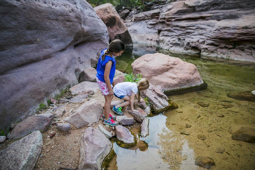Hiking Lower Pine Creek Falls Zion National Park