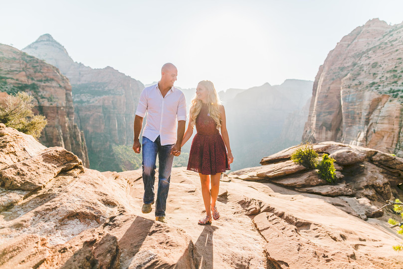 A Surprise Sunset Engagement In Zion