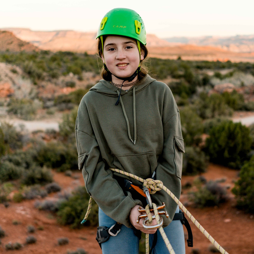 Rappelling with kids-57