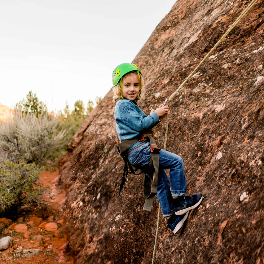Rappelling with kids-40