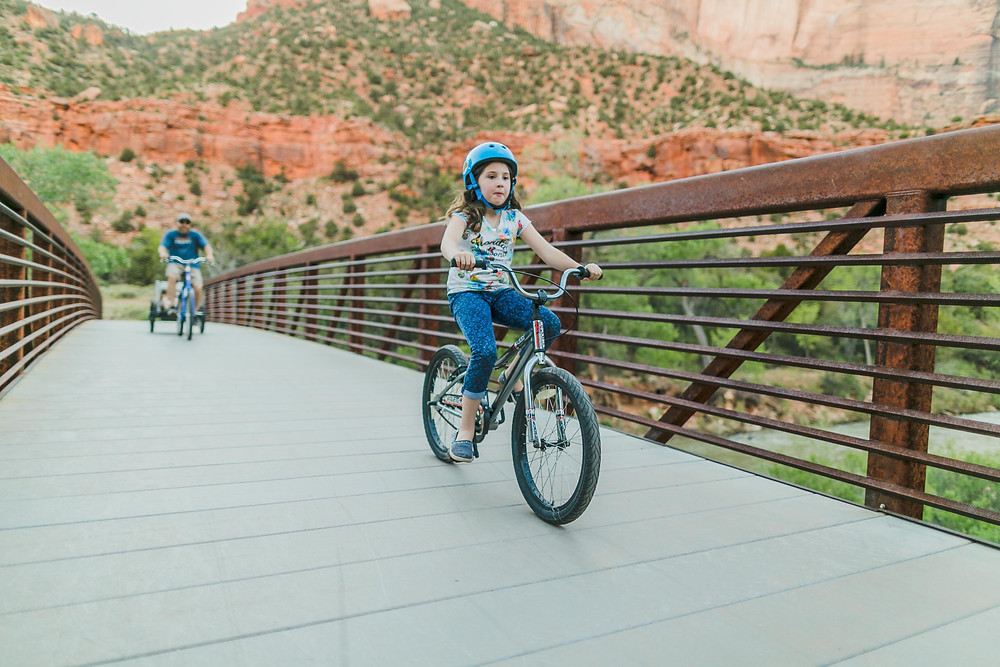Biking the Pa'Rus trail in Zion