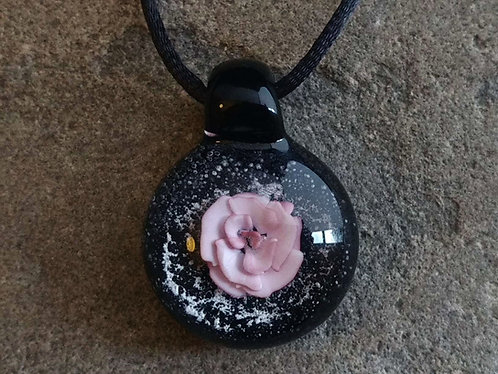 White and Pink Rose With Encased Ash