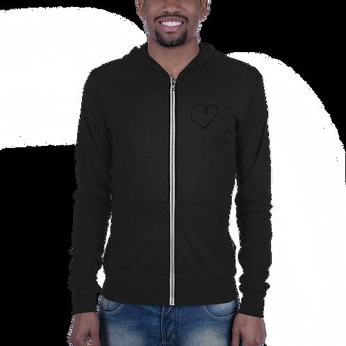 Haustronaut Heart Beat Unisex zip hoodie