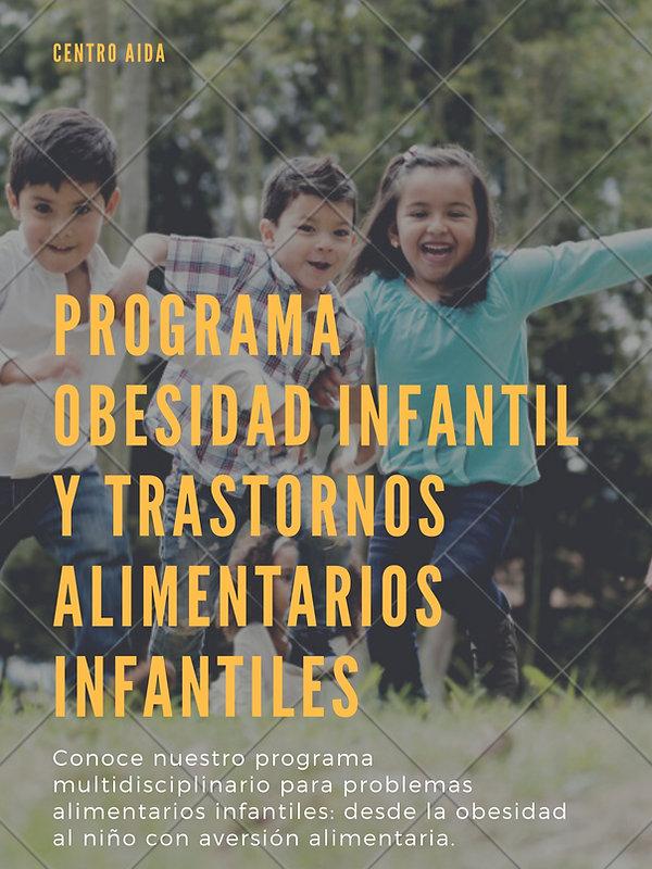 Programa obesidad infantil y trastornos