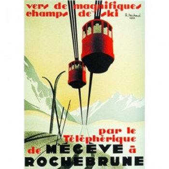 Affiche Megève Rochebrune 50x70cm