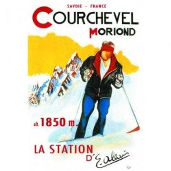 Affiche Courchevel 50x70cm