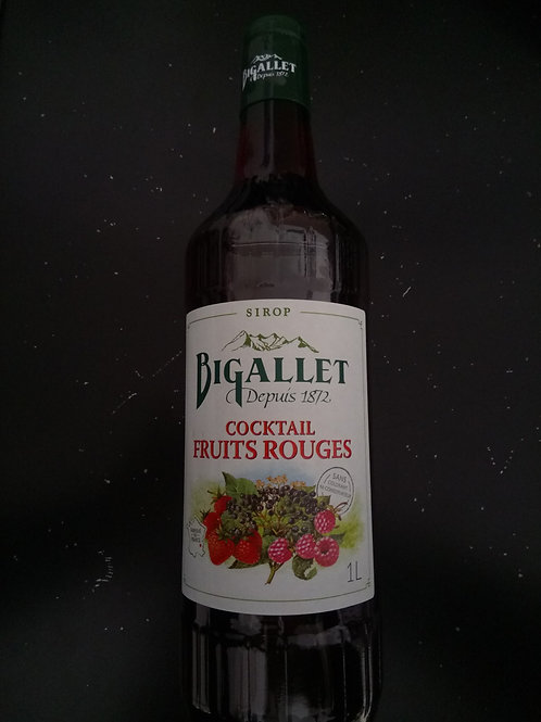 Sirop cocktail fruits rouges 1L - Bigallet