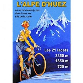 Affiche L'Alpe D'Huez 50x70cm