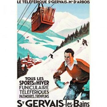 Affiche St-Gervais funiculaire 50x70cm