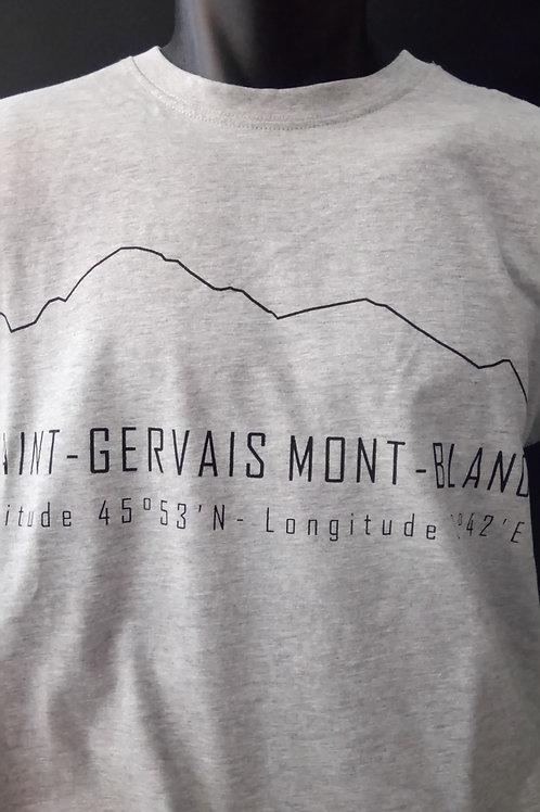 Tshirt St-Gervais gris/noir - SERICIMES