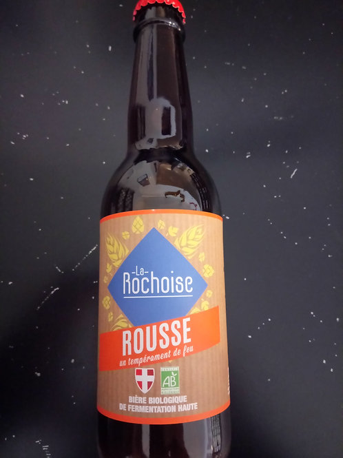 Bière Rousse bio 6% 33cl - La Rochoise
