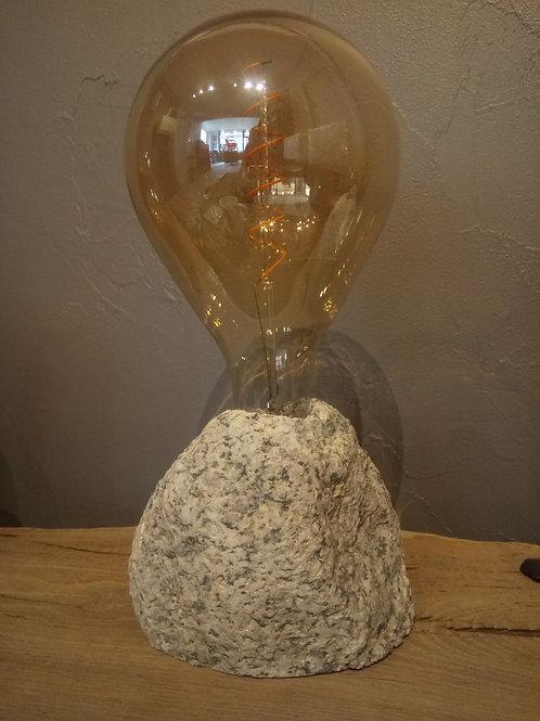 Lampe en granit du Mont-Blanc