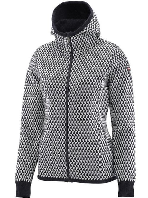 Dusty veste femme capuche laine mérinos HENJL - taille S