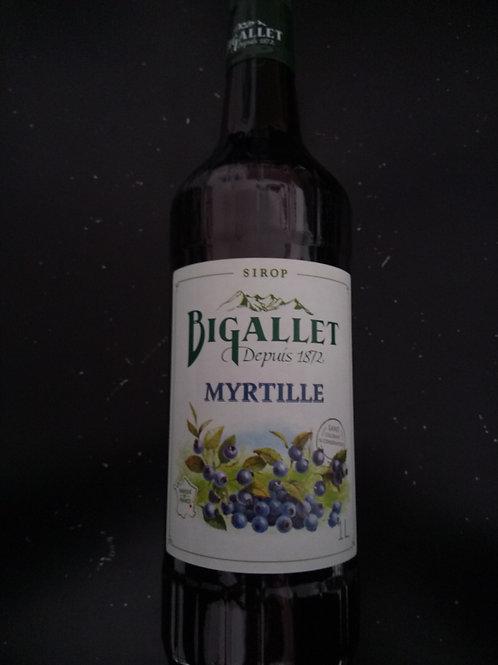 Sirop myrtilles 1L - Bigallet