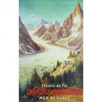 Affiche Chamonix mer de glace 50x70cm