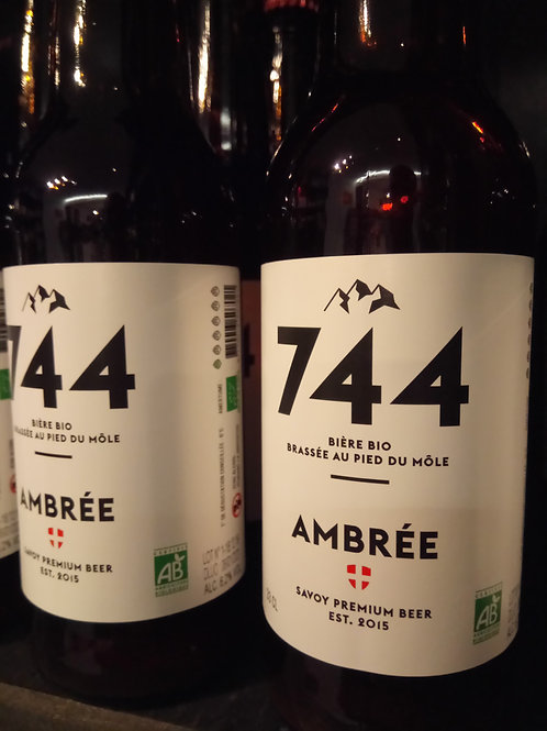 Bière ambrée 33cl -Brasserie 744