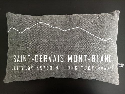 Coussin Saint-Gervais gris 30x50cm - SERICIMES