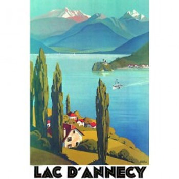 Affiche Lac d'Annecy 50x70cm