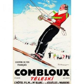 Affiche Combloux Téléski 50x70cm