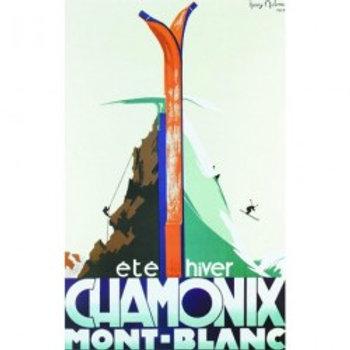 Affiche Chamonix été hiver 50x70cm