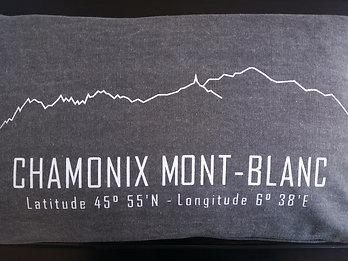 Coussin Chamonix gris 30x50cm - SERICIMES