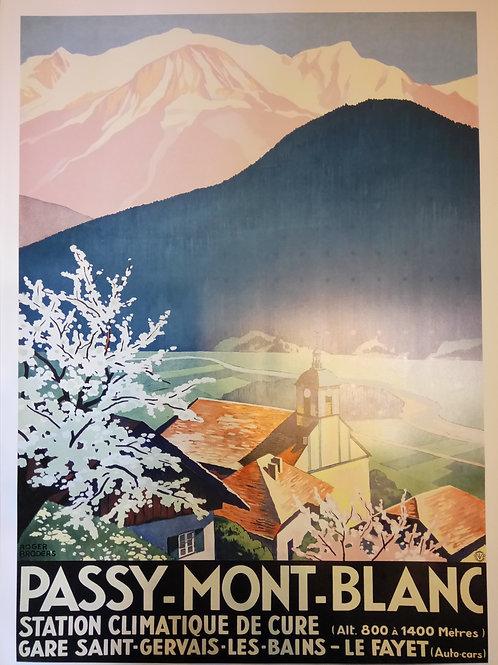 Affiche Passy Mont-Blnc 50x70cm