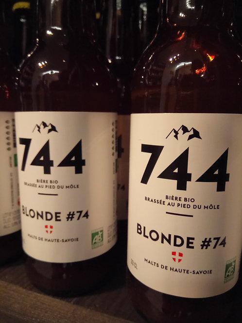 Bière blonde #74 33cl -Brasserie 744