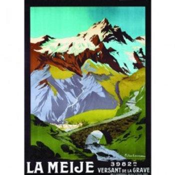 Affiche La Meije 50x70cm