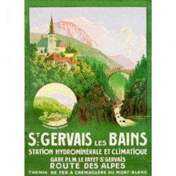 Affiche St-Gervais pont du diable 50x70cm