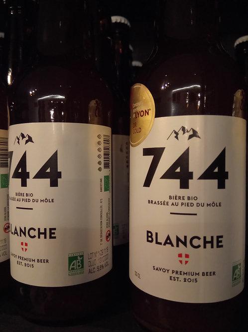 Bière blanche 33cl -Brasserie 744