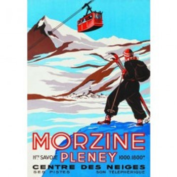 Affiche Morzine Pleney 50x70cm