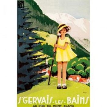 Affiche St-Gervais petite fille 50x70cm