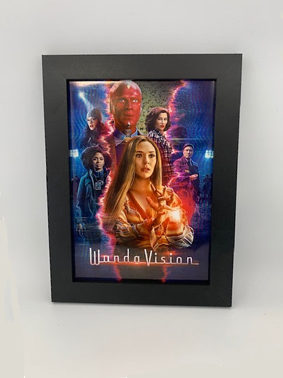 WandaVision A4 Framed Poster
