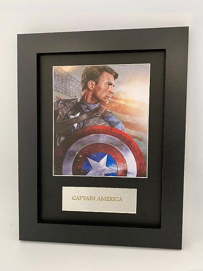 Captain America Framed A4 Print