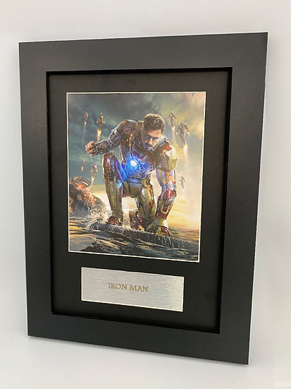 Iron Man Framed A4 Print