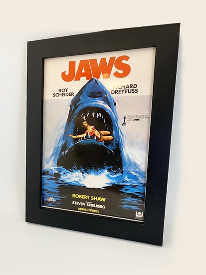 Jaws Framed A4 Poster
