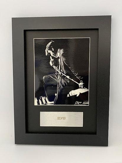 Elvis Framed A4 Print