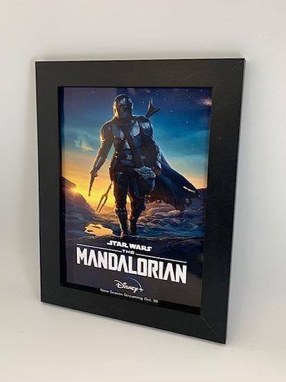 The Mandalorian Framed A4 Poster