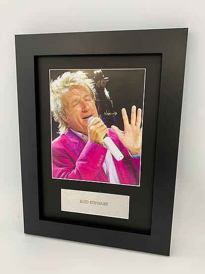 Rod Stewart Framed A4 Print