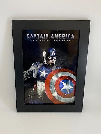 Captain America Framed A4 Poster