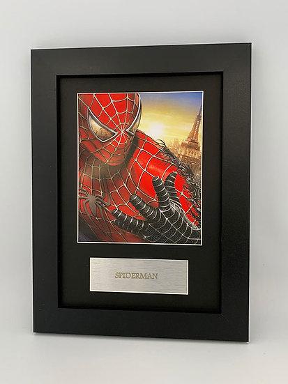 Spiderman Framed A4 Print