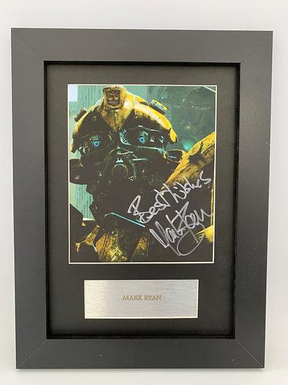 Transformers Bumblebee - Mark Ryan A4 signed print
